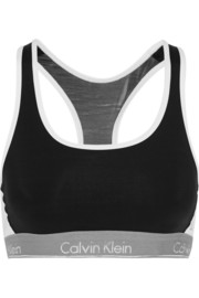 Flex Motion mesh-paneled stretch sports bra