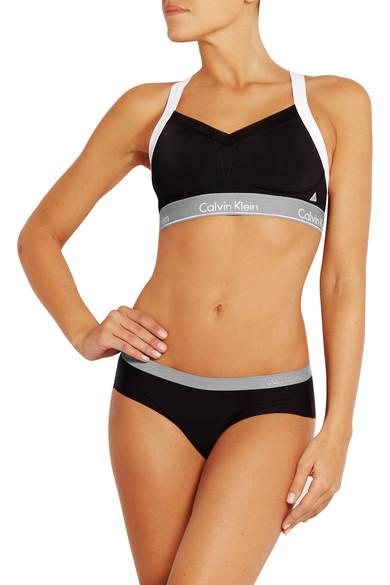 f331cbc99d Calvin Klein Underwear. Flex Motion convertible mesh-trimmed stretch sports  bra