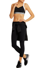 Flex Motion convertible mesh-trimmed stretch sports bra