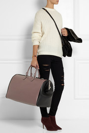 Serapian Evolution two-tone textured-leather weekend bag