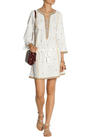 Talitha Shyla embroidered cotton-voile mini dress