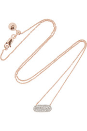 Monica Vinader Vega rose gold-plated diamond necklace