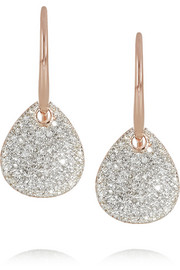 Monica Vinader Alma rose gold-plated diamond earrings