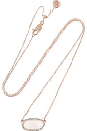Vega rose gold-plated, moonstone and diamond necklace