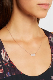 Monica Vinader Vega rose gold-plated, moonstone and diamond necklace