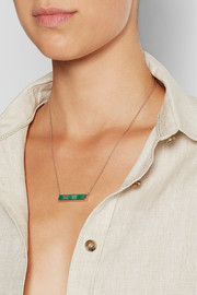 Monica Vinader Baja rose gold-plated emerald necklace