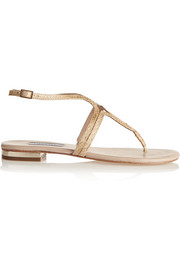 Lucy Choi London Iago snake-effect leather sandals