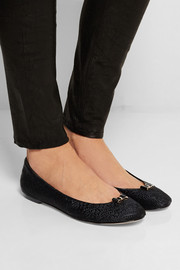 Lucy Choi London Puck woven calf hair ballet flats