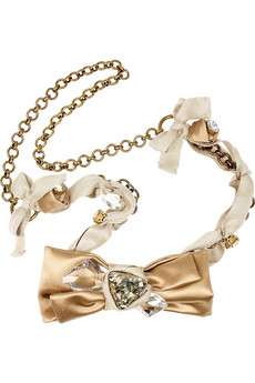 Miu Miu Satin bow necklace
