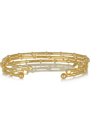 Set of three gold-plated bracelets