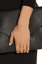 Arme De L'Amour Gold-plated finger bracelet