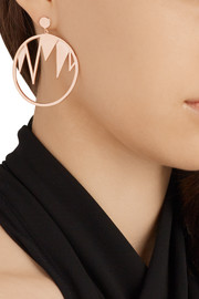 Arme De L'Amour Rose gold-plated hoop earrings