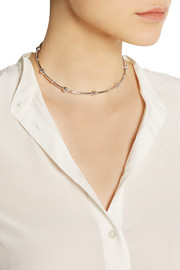 Arme De L'Amour Sphere Bamboo silver choker