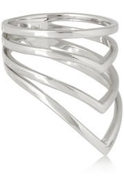 Arme De L'Amour Chevron silver ring