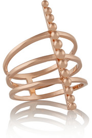 Arme De L'Amour Rose gold-plated ring