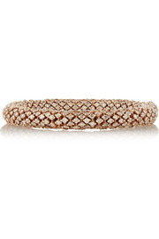Carolina Bucci Twister Luxe 18-karat rose gold diamond bracelet