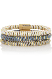 Carolina Bucci Twister set of three gold-plated silver bracelets