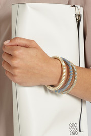 Carolina Bucci Twister set of three gold-plated and silk bracelets