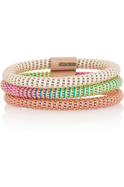 Carolina Bucci Twister set of three rose gold-plated silver bracelets