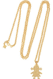 Carolina Bucci Baby Girl 18-karat gold diamond necklace