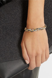 Carolina Bucci Braided gold-plated sterling silver bracelet