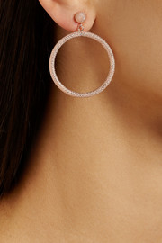 Carolina Bucci 18-karat rose gold hoop earrings