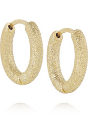 Carolina Bucci Huggy 18-karat gold hoop earrings
