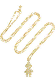 Carolina Bucci 18-karat gold diamond necklace