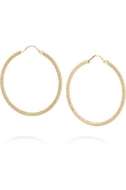 Carolina Bucci Small 18-karat gold hoop earrings