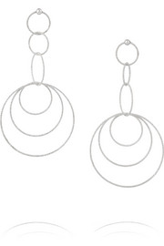 18-karat white gold earrings