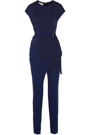 By Malene Birger Lilas draped stretch-jersey and crepe jumpsuit