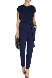Lilas draped stretch-jersey and crepe jumpsuit
