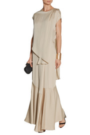 By Malene Birger Diamante satin-jersey gown