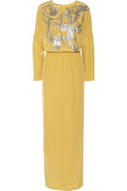 By Malene Birger Lidania sequin-embellished silk-satin gown