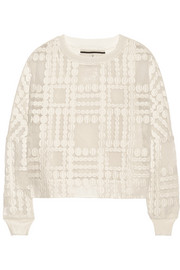 By Malene Birger Pura embroidered organza top