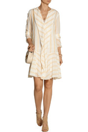 By Malene Birger Astree striped silk-crepe dress