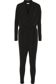 Ulindas wrap-effect stretch-crepe jumpsuit