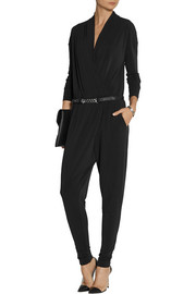 By Malene Birger Ulindas wrap-effect stretch-crepe jumpsuit