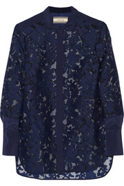 Liliani embroidered organza shirt