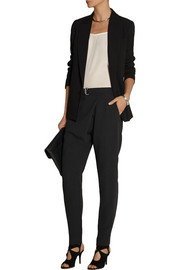 By Malene Birger Vengalia wrap-effect crepe tapered pants