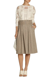 By Malene Birger Lollila pleated wool-blend skirt