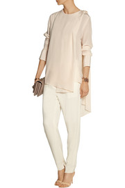 By Malene Birger Fouria draped silk crepe de chine top