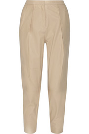 By Malene Birger Tracis leather tapered pants