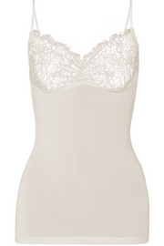 Wasikio lace-paneled stretch-modal camisole