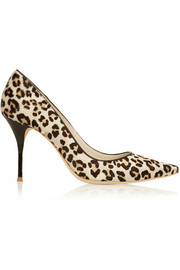 Sophia Webster Lola leopard-print calf hair pumps