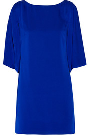 Milly Stretch-silk mini dress