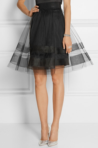 milly tulle a line skirt net a porter