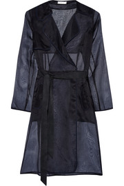 Milly Silk-organza trench coat