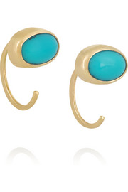 Melissa Joy Manning 14-karat gold turquoise earrings