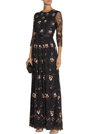 Needle & Thread Willow sequin-embellished tulle maxi dress